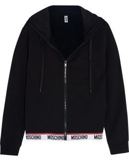Cotton-blend And Fleece Hooded Top