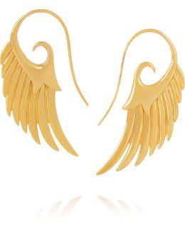Wing 18-karat Gold Earrings
