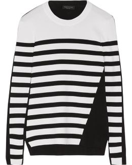Cecilee Striped Merino Wool-blend And Stretch-knit Sweater