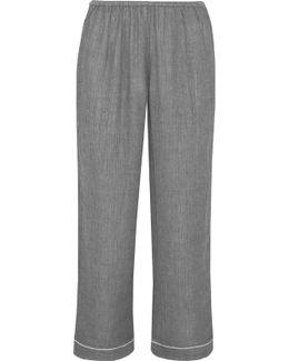 Delilah Crinkled-cotton Gauze Pajama Pants