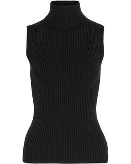 Ribbed Cashmere-blend Turtleneck Top