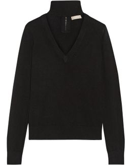 Cutout Cashmere Turtleneck Sweater