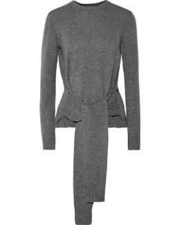 Tie-front Cashmere Sweater