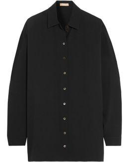 Oversized Silk-georgette Shirt