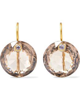 18-karat Gold, Quartz And Sapphire Earrings
