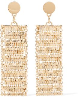 Fleece Gold-plated Cubic Zirconia Earrings