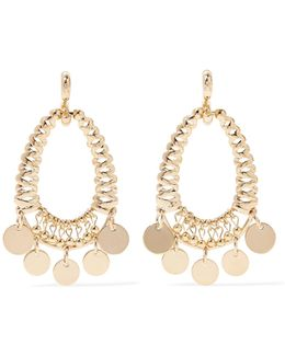 Batik Gold-plated Cubic Zirconia Earrings