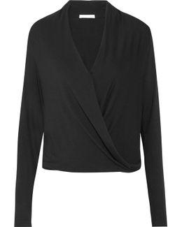 Yori Wrap-effect Jersey Pajama Top
