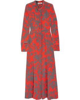 Printed Washed-silk Maxi Dress