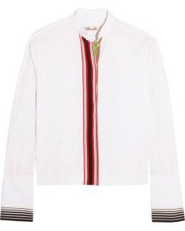 Essentials Grosgrain-trimmed Cotton-poplin Shirt