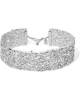 Oksana Silicone, Silver-tone And Swarovski Crystal Choker