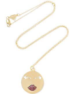Mwa! 14-karat Gold Ruby Necklace