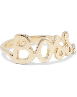 Boss 14-karat Gold Diamond Ring