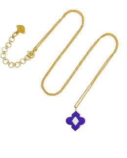 18-karat Gold Enamel Necklace
