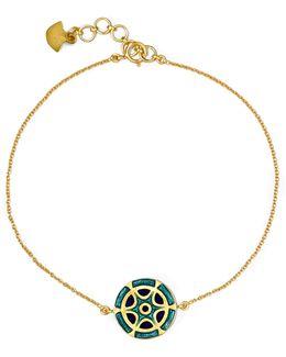 18-karat Gold Enamel Bracelet