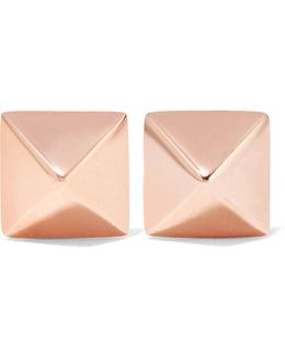 Spike 14-karat Rose Gold Earrings