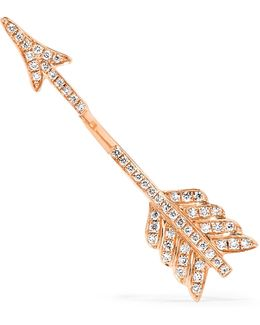 Single Arrow 18-karat Rose Gold Diamond Earring