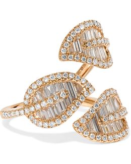 Tri-leaf 18-karat Rose Gold Diamond Ring