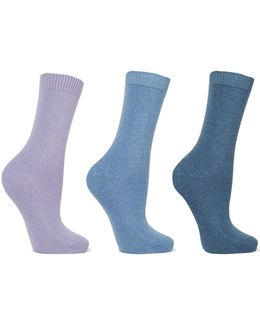 Set Of Three Knitted Socks