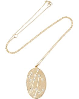 Leo 14-karat Gold Diamond Necklace