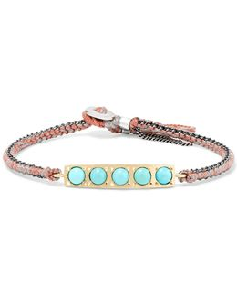 14-karat Gold, Sterling Silver And Turquoise Bracelet