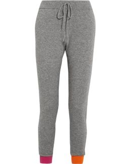Wool And Cashmere-blend Track Pants