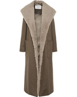 Hooded Cashmere And Shearling Coat