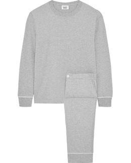 Stevie Cotton-blend Jersey Pajama Set