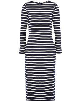 Chloe Striped Cotton-jersey Dress