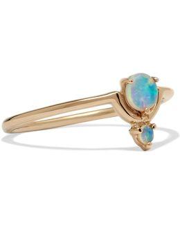 Nestled 14-karat Gold Opal Ring