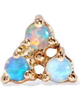 14-karat Gold Opal Earring