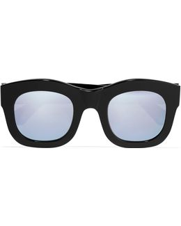 Hamilton Square-frame Acetate Mirrored Sunglasses
