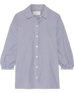 The Easy Button Up Striped Cotton-poplin Shirt
