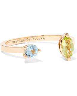 18-karat Gold, Peridot And Aquamarine Ring