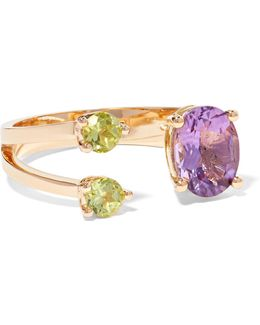 18-karat Gold, Amethyst And Peridot Ring