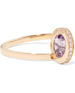 18-karat Gold, Amethyst And Diamond Ring