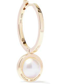 18-karat Gold Pearl Hoop Earring