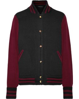 Two-tone Wool And Cashmere-blend Bomber Jacket
