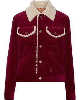 Faux Shearling-lined Corduroy Jacket