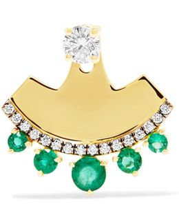 18-karat Gold, Diamond And Emerald Earring