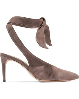 Cariny Knotted Suede Pumps