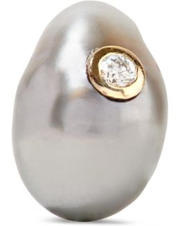14-karat Gold, Pearl And Diamond Earring