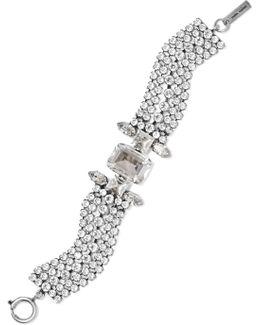 Silver-tone Crystal Bracelet