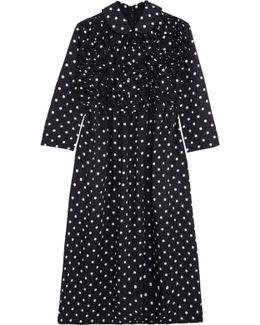 Ruffled Polka-dot Poplin Dress