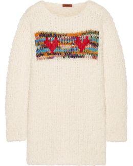 Intarsia Chunky-knit Sweater