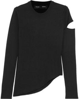 Asymmetric Cutout Wool-blend Sweater