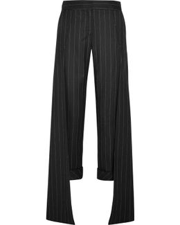 Smith Pinstriped Wool-blend Wide-leg Pants
