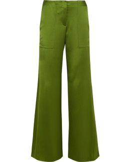 Patton Silk-satin Wide-leg Pants