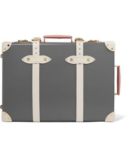"Centenary 19"" Leather-trimmed Fiberboard Travel Trolley"