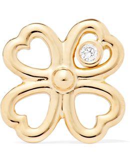 Merveilles Gold Diamond Earring